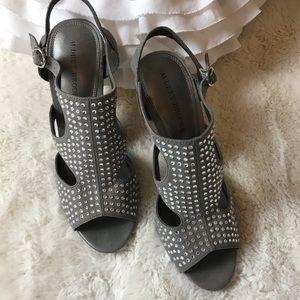 Audrey Brooke Grey Heels Bling Size 10